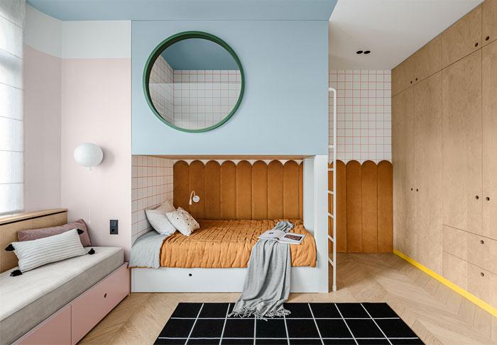 green L shaped kitchen apartment kyiv 19