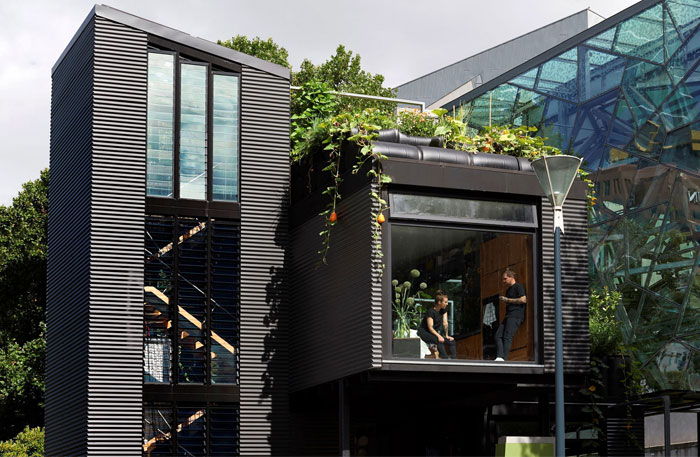 external space garden rooftop