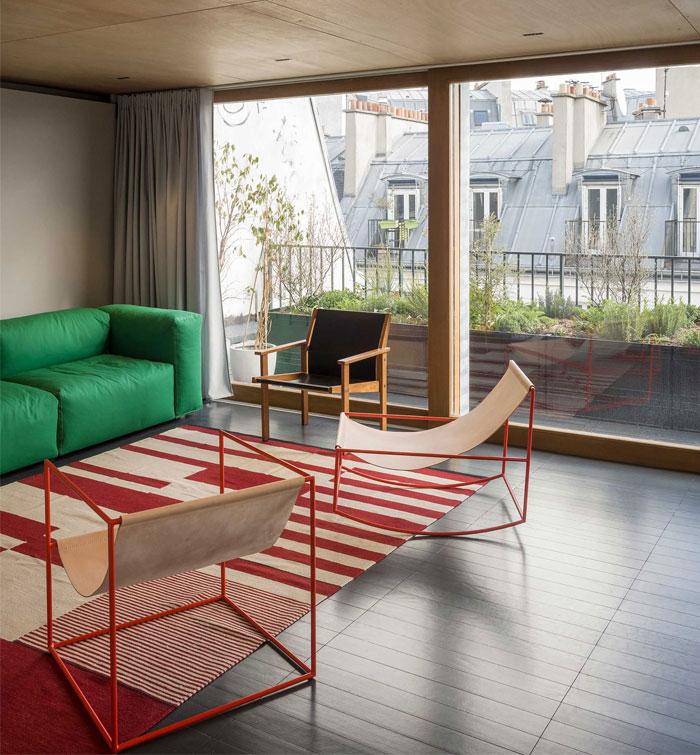 interior green chubby furniture